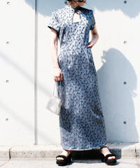 【Seek an nur】Embroidery Chinese Design Maxi Dress