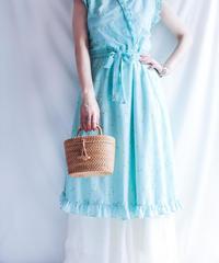 【Seek nur】Flower Frill Cache coeur  Dress