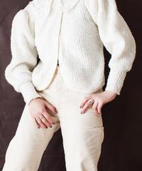 【Seek nur】Puff Sleeve Knit Cardigan