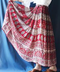 【Seek an nur】1970's India Cotton Skirt