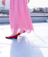 【tiny yearn】1970's Pink Lace Dress