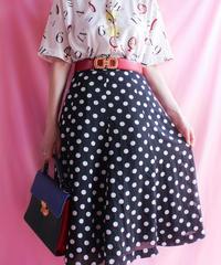 【tiny yearn】Polka Dot Flare Skirt