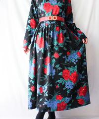 【Seek nur】Rose Pattern Long Dress