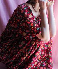 【tiny yearn】70's Flower Maxi Dress
