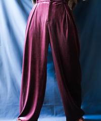 【Seek nur】Velours Wide Pants