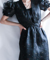 【Seek nur】Frill sleeve Dot Dress