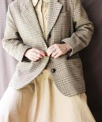 【Seek nur】Glen Check Wool Tailored Jacket