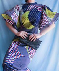 【tiny yearn】Tiered sleeve Art Dress