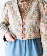 【Seek an nur】Euro Flower Gobelin Short Jacket