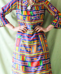 【tiny yearn】Ethnic Pattern Handmade Long Dress