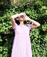 【Seek an nur】1960's Silk Organdie Maxi Dress