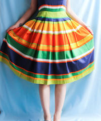 【tiny yearn】Multi Border Flare Dress