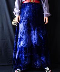 【Seek nur】Blue Velvet Maxi Skirt