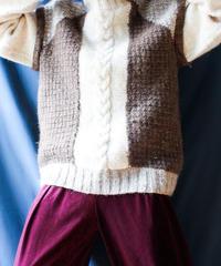 【Seek nur】Turtleneck Mohair Big Hand Knit