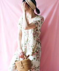 【tiny yearn】Flower Rayon Maxi Dress