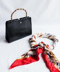 Black Leather Box Hand Bag