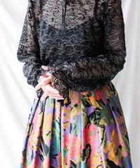 【Seek an nur】Frill Black×Gold Lace Tops