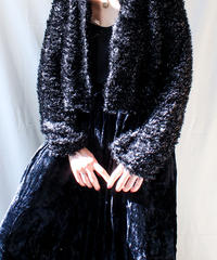 【Seek nur】Euro Metallic Shaggy Knit Cardigan