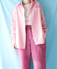 【tiny yearn】Corduroy Over Shirt/Pink