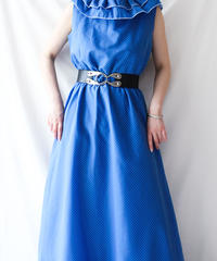 【Seek an nur】Germany Pin dot Maxi Dress