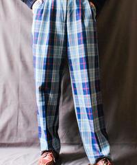 【Seek nur】Over Check Tuck Pants