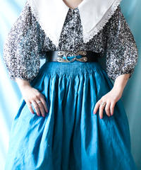 【tiny yearn】Euro Big collar Sheer Blouse