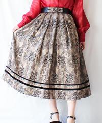 【Seek an nur】Euro Metallic Flower Jacquard Skirt