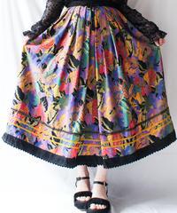 【Seek an nur】Euro Art Pleats Long Skirt