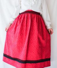 【Seek nur】Euro Smocking Jacquard Skirt
