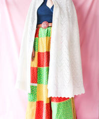 【tiny yearn】1970's Crochet Knit Poncho