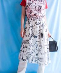 【tiny yearn】Art Design Sheer Dress