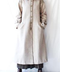 【Seek nur】Pleats Design Wool Long Coat