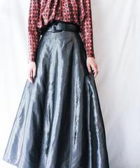 【Seek nur】Metallic Gray Long Skirt