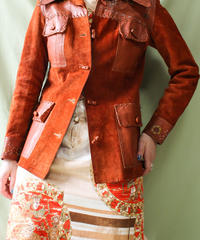 【tiny yearn】1970's Suede Leather Jacket