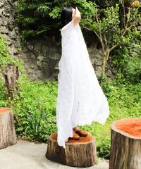 【Seek an nur】Embroidery Sheer Caftan Dress