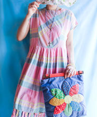 【tiny yearn】Madras Check Cotton Dress