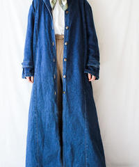 【Seek nur】Denim Indigo Blue Long Coat