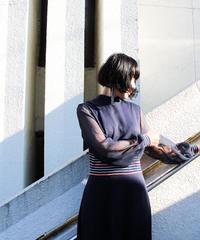 【Seek nur】1970's Sheer Sleeve Maxi Dress