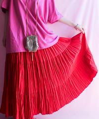 【tiny yearn】Crash Pleats Tiered Long Skirt