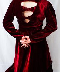 【Seek nur】Open Back Velvet Long Dress
