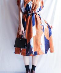 【Seek nur】 Flag Pattern Flare Dress