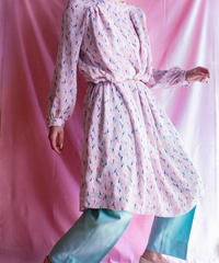 【tiny yearn】70's Tryangle Pattern Sheer Dress
