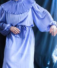 【Seek nur】Pleats collar Sheer Dress