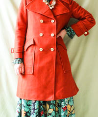 【tiny yearn】1970's Orange Reefer Coat