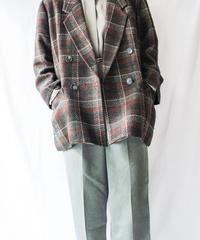 【Seek nur】 Check Wool Tailored Jacket