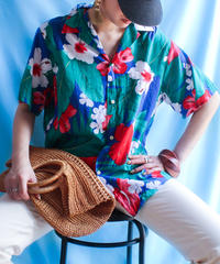 【tiny yearn】Hibiscus ALOHA Shirt