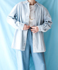 【tiny yearn】Corduroy Over Shirt/Light blue