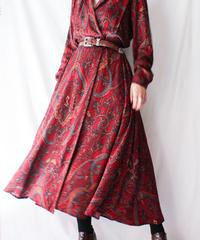 【Seek nur】Oriental  Pattern Wrap  Dress