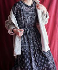 【Seek nur】Paisley Pattern Lace Dress