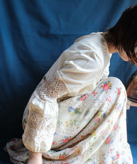 【Seek nur】Lace×Flower Maxi Dress